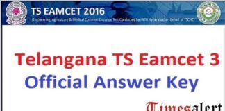 TS EAMCET 3 Official Answer Key