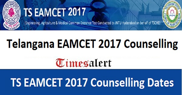 TS EAMCET 2017 Counselling Dates