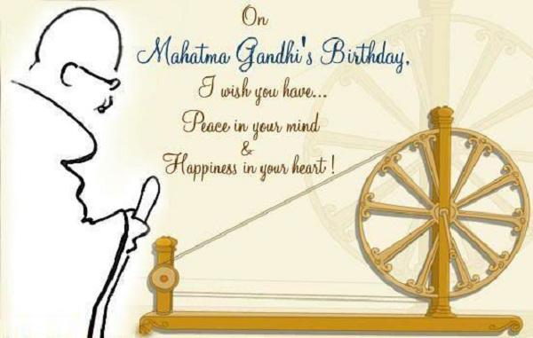 Happy Gandhi Jayanti Whatsapp Wishes