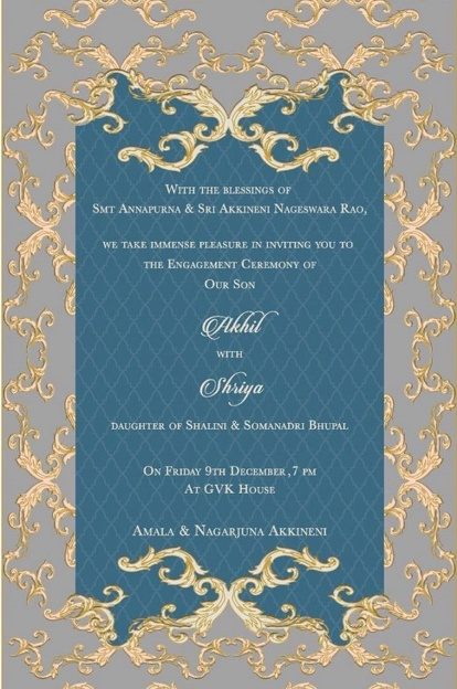 akhil-akkineni-shriya-bhupal-engagement-invitation-card