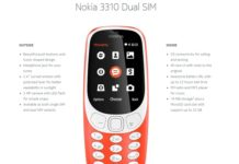 Nokia 3310 Specifications