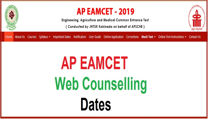 AP EAMCET 2019 Web Counselling Dates