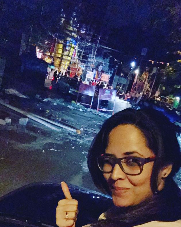Anasuya At Khairatabad Ganesh 2017 Photos
