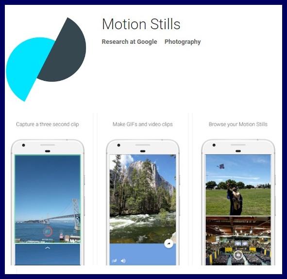 Google Motion Stills App Apk