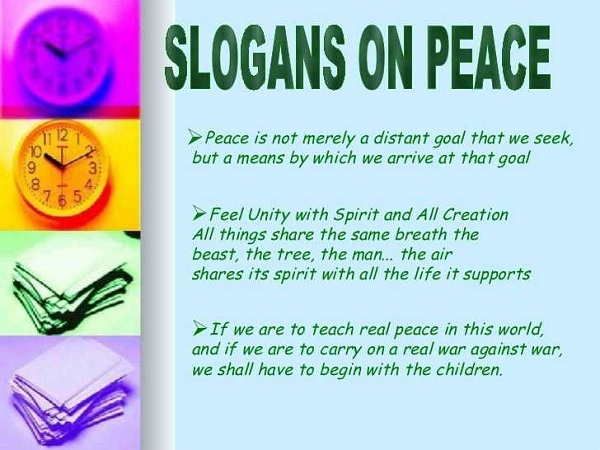 World Peace Day Slogans