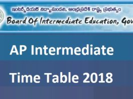 AP Inter Supplementary Time Table