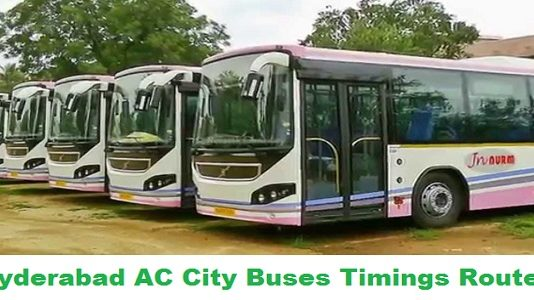 Hyderabad AC City Buses Timings Routes