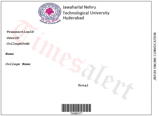 JNTUH OD Apply Online Procedure Convocation Original Degree