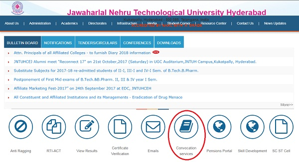 JNTUH OD Convocation Services
