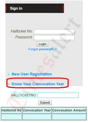Know your convocation year amount