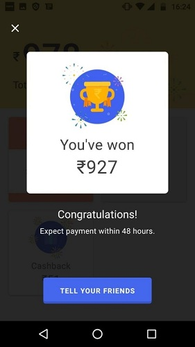 Tez App Scratch Card
