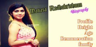 Manasa Radhakrishnan profile