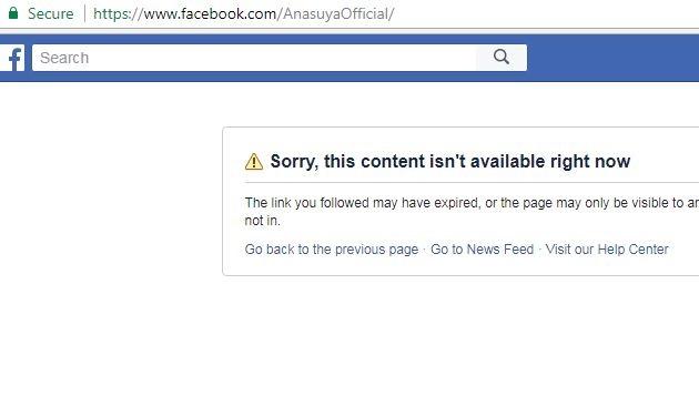 Anasuya Official facebook