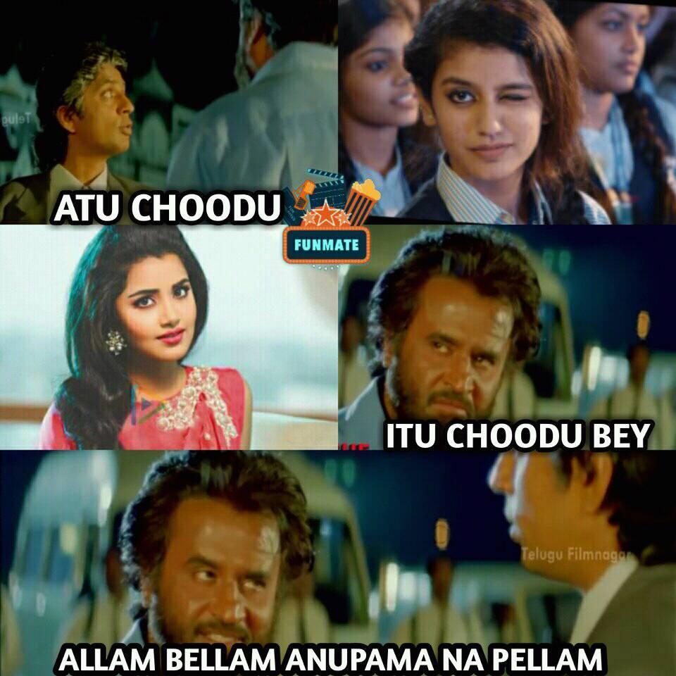 Priya Prakash Varrier Cute Expressions Memes
