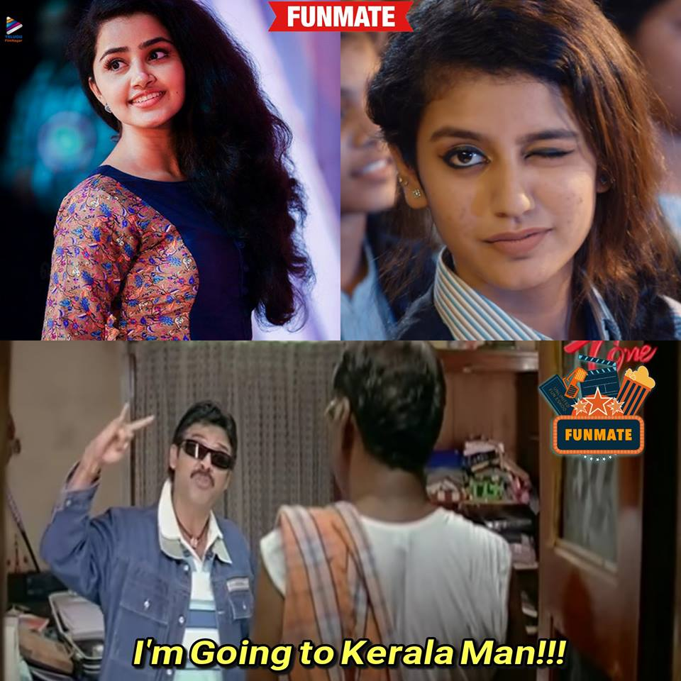 Priya Warrier Cute Expressions Meme