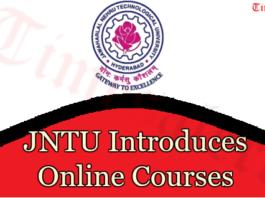 JNTU Introduces Online Courses