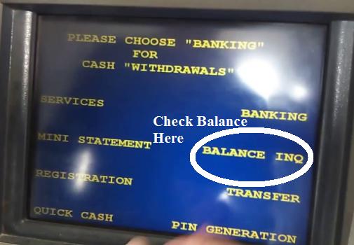 SBI ATM Balance Check