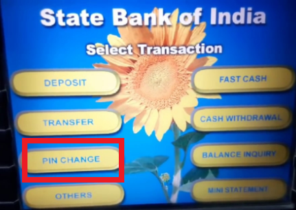 SBI ATM PIN Generation by ATM