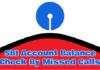 SBI Account Balance Check