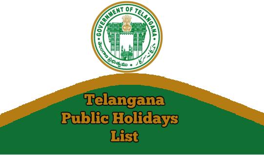 Telangana Public Holidays List 2019 TS General and Optional Holidays Pdf