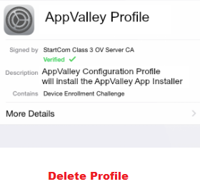 Uninstall Appvalley Profile