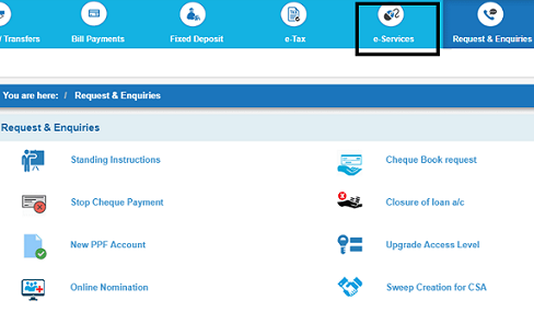 Apply SBI Online Debit Card