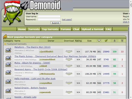 Demonoid Proxy and Unblocked Mirror Sites