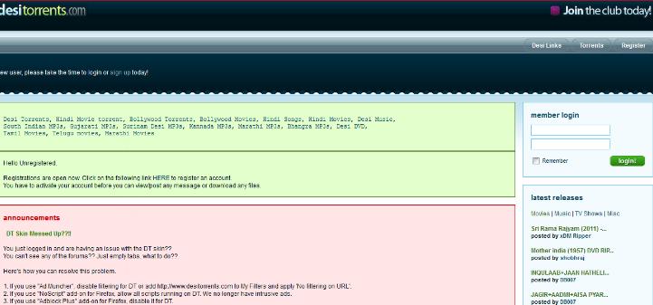 DesiTorrents Proxy and Mirror Sites