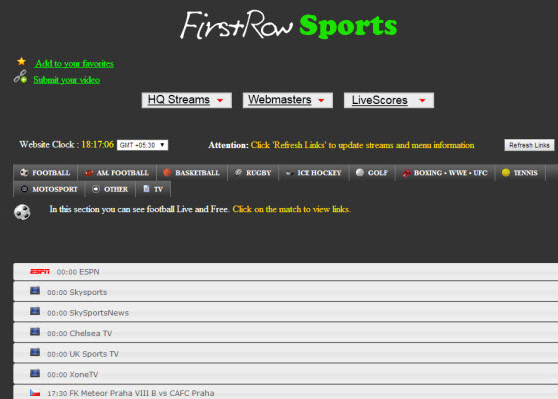 Www.Firstrowsports.Eu