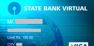 generate sbi virtual card