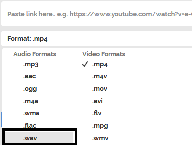 Convert YouTube To WAV Format