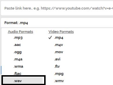 Convert YouTube To WAV Format
