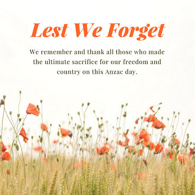 Anzac Day Wishes