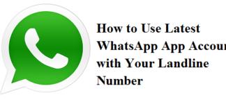WhatsApp App With Landline Number