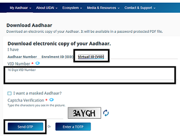 Aadhaar Card Check Status Download