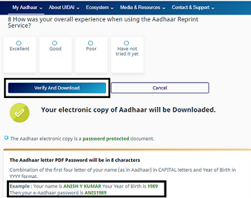 Aadhaar Card Status Check And Download