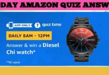 Diesel Chi Watch Amazon Quiz