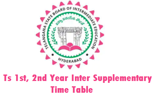 Ts Inter Supply Time Table