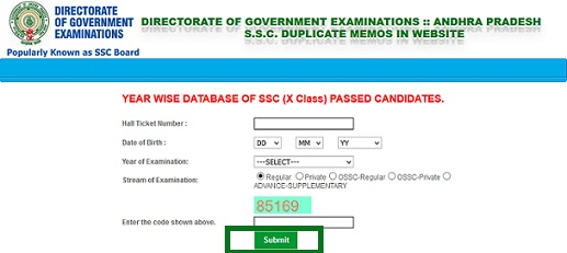 SSC Marks Memo Duplicate Download | AP Telangana SSC