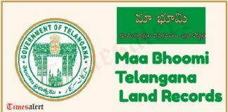 TS Maa Bhoomi Telangana Land Records
