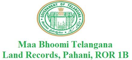 Maa Bhoomi Telangana Website