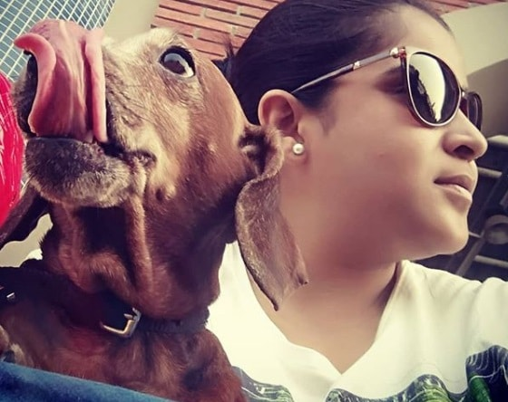 Neha Shitole With pet Sharelok