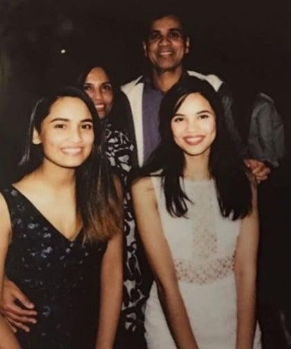 Priya Serrao Family