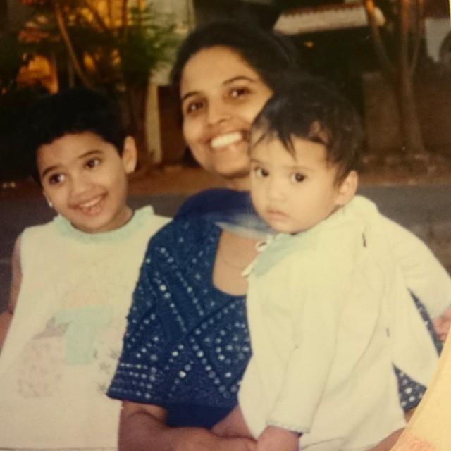 Priya Serrao With Her Mother