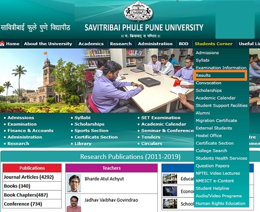 Pune University Results Online