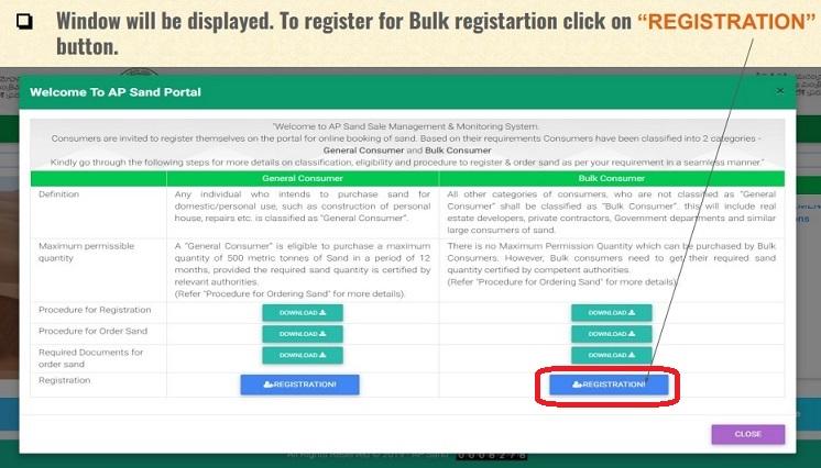 Registration bulk