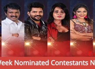 4th Week Nominated Contestants