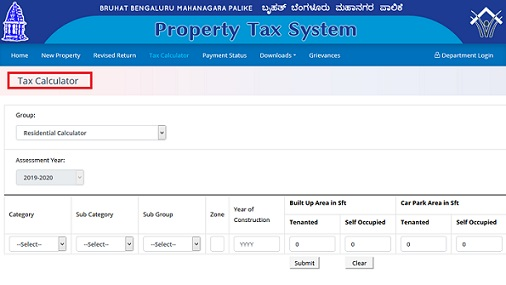 BBMP Property Tax Online
