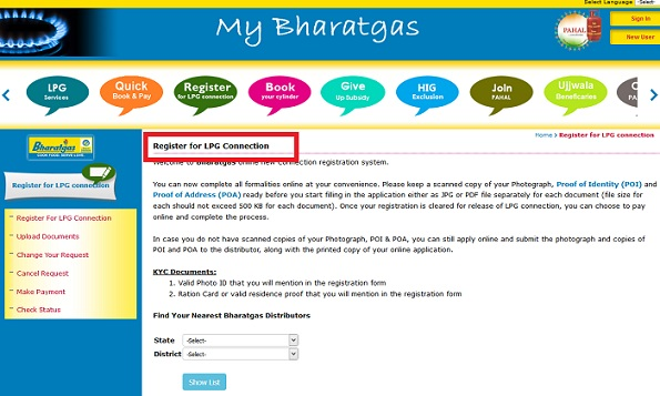 Bharat Gas Connection