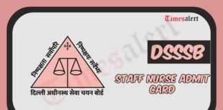 DSSSB Staff Nurse Admit Card